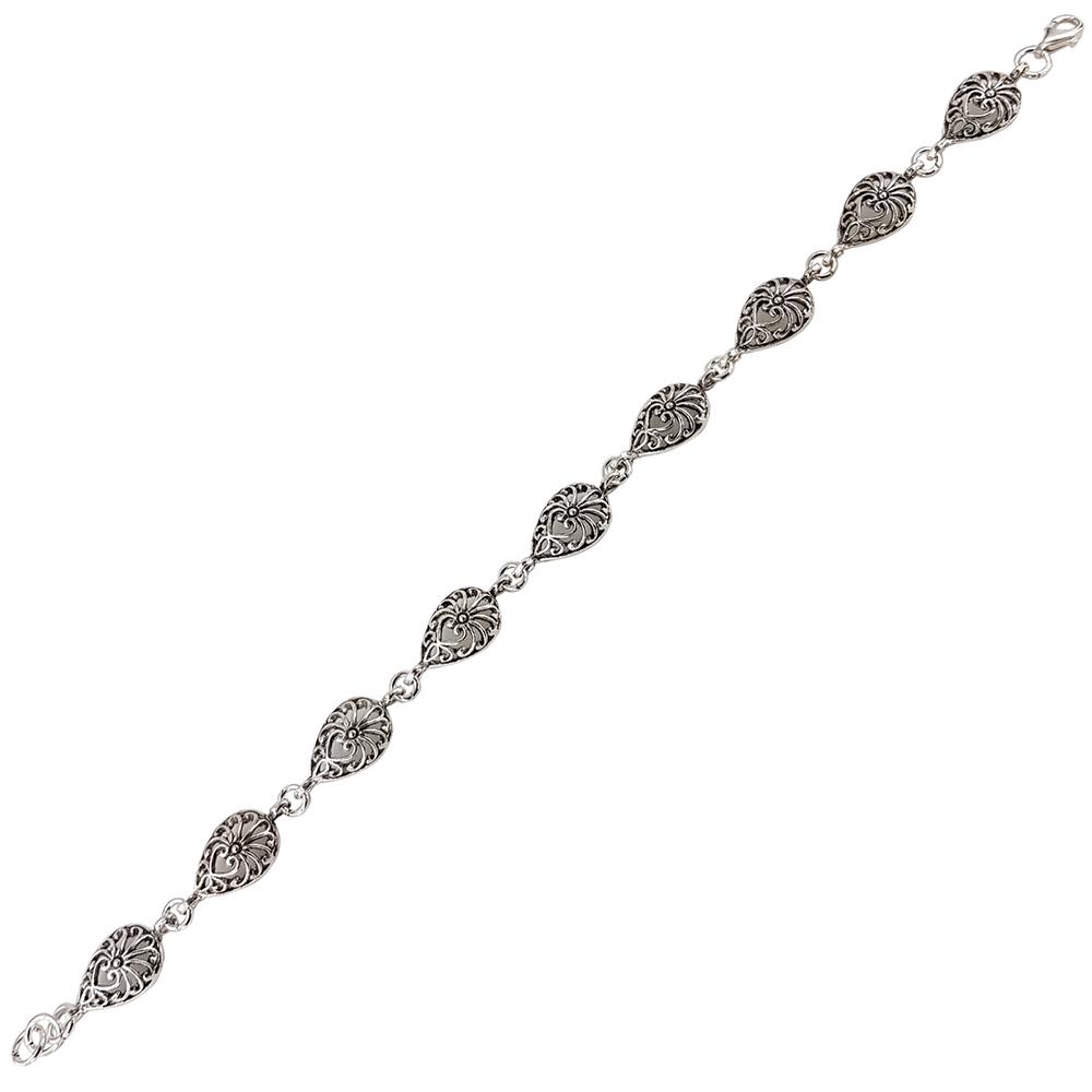 Bratara argint cu aspect filigranat
