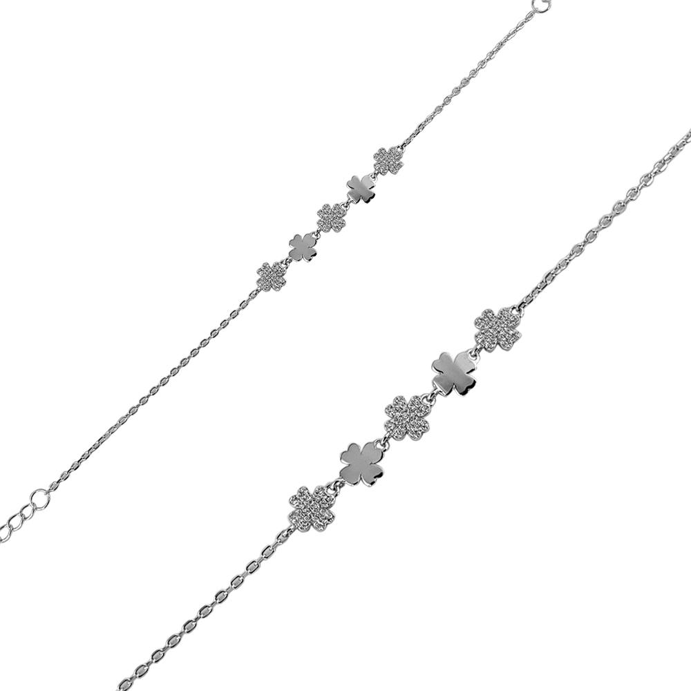 Bratara argint Alia cu zirconii albe