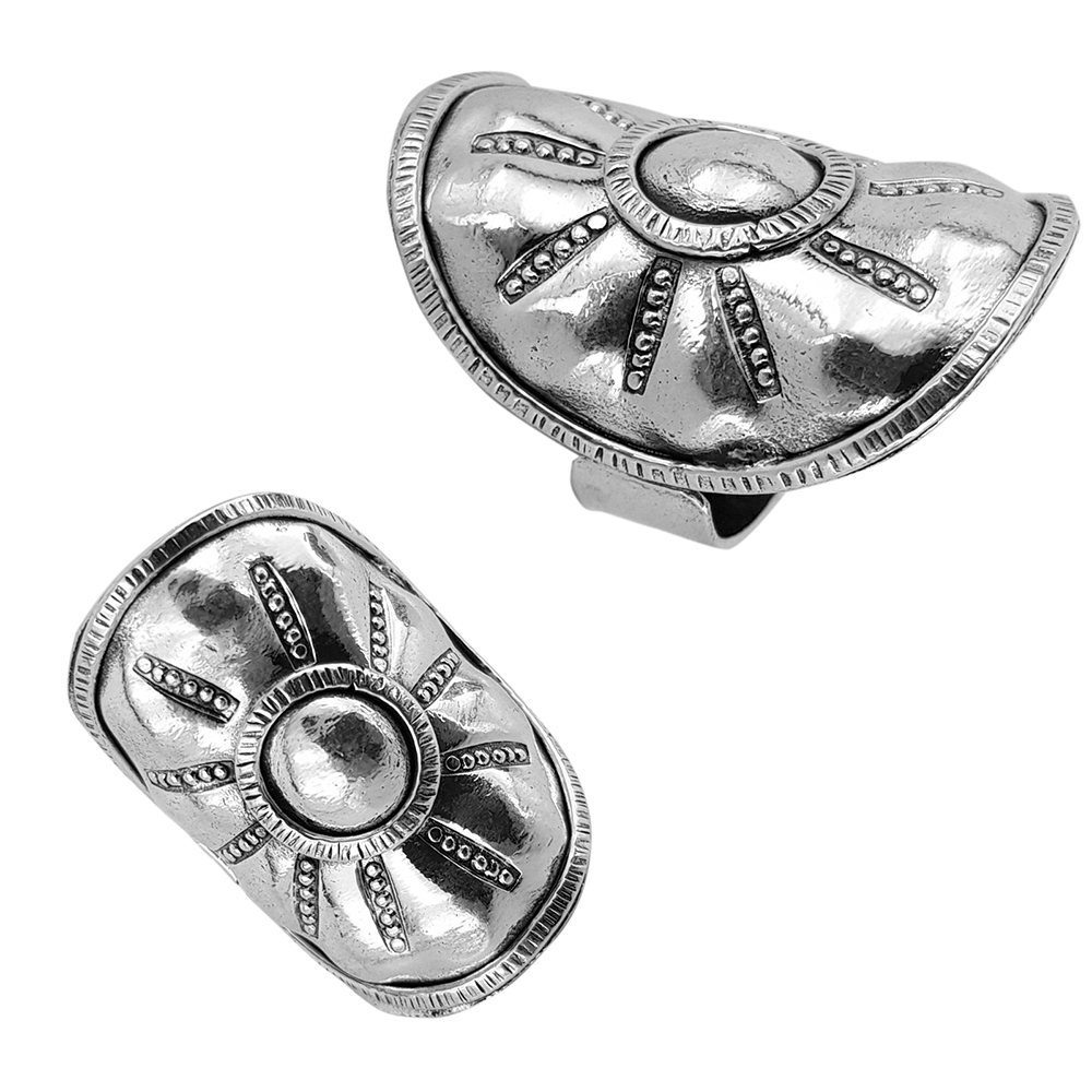 Inel argint reglabil, lucrat manual, Indonezia