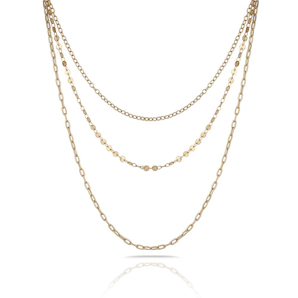 Lant auriu, Freelook, pentru dama, din otel inoxidabil, FRJ.3.6004-2