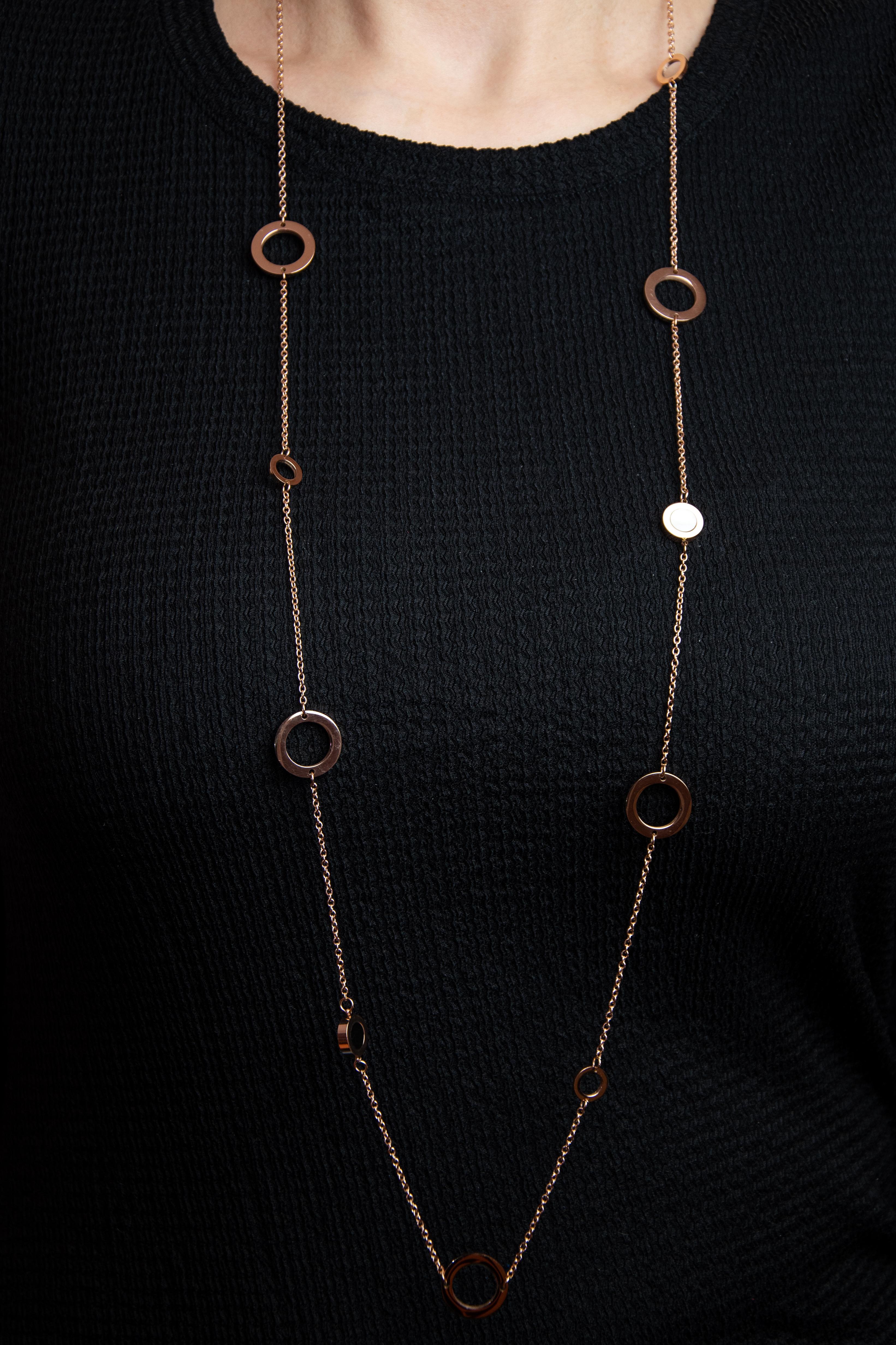Lant auriu rose, Freelook, pentru dama, din otel inoxidabil, FRJ.3.6003-3