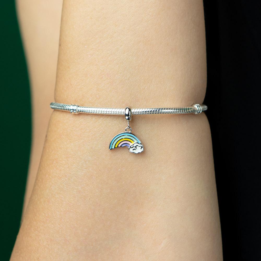 Talisman argint 925 Rainbow multicolor