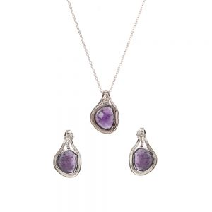 Set argint Purple cu ametiste Thailanda