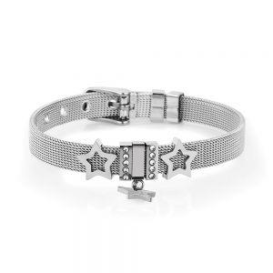 Bratara argintie, Daniel Klein, pentru dama, din otel inoxidabil, DKB.3.2048.01
