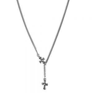 Lant argint antichizat cross
