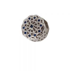 Talisman argint cu zirconii albastre