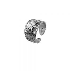 Inel vintage din argint elephant