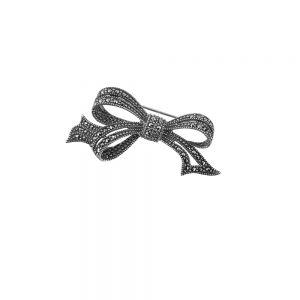 Brosa argint Callia cu marcasite