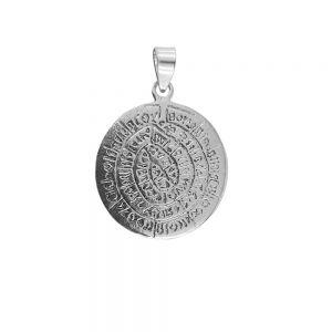Pandantiv argint cu simboluri hieroglifice, lucrat manul