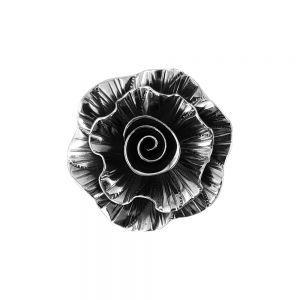 Pandantiv argint vintage rose, lucrat manual, Indonezia