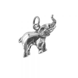 Pandantiv elefant din argint, lucrat manual