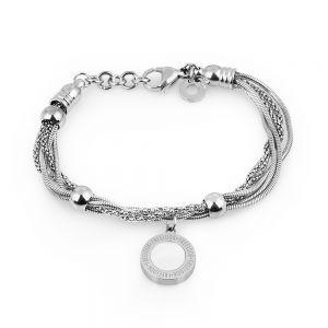 Bratara argintie, Freelook, pentru dama, din otel inoxidabil, FRJ.3.3008-1