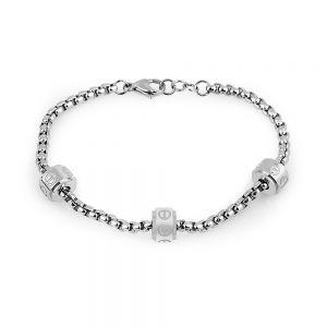 Bratara argintie, Freelook, pentru dama, din otel inoxidabil, FRJ.3.3009-1