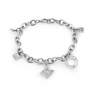 Bratara argintie, Freelook, pentru dama, din otel inoxidabil, FRJ.3.3012-1