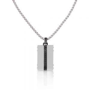 Lant argintiu, Santa Barbara Polo, pentru barbati, din otel inoxidabil, SBJ.4.5003-1