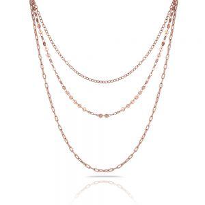 Lant auriu rose, Freelook, pentru dama, din otel inoxidabil, FRJ.3.6004-3