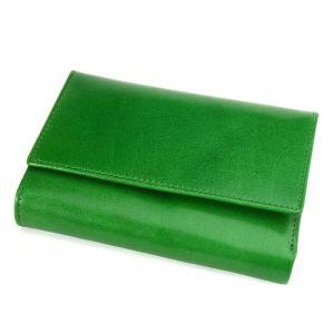 Portofel verde, de dama, din piele naturala, E030-32