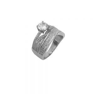 Inel argint tip logodna Hera, marime 54