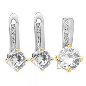 Set argint Adele cu zirconii albe