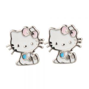 Cercei argint copii Hello Kitty cu email
