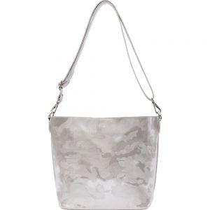 Poseta argintie din piele ecologica Diana